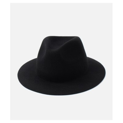 【アズールバイマウジー】 WIDE BRIM FELT HAT メンズ ブラック FREE AZUL BY MOUSSY
