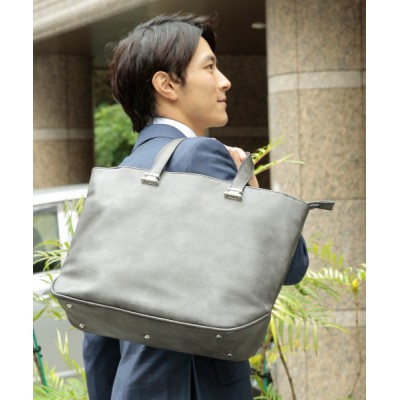 UNBILLION / オティアス Otias/アンティーク仕上げタイプ合成皮革トートバッグ MEN バッグ > トートバッグ
