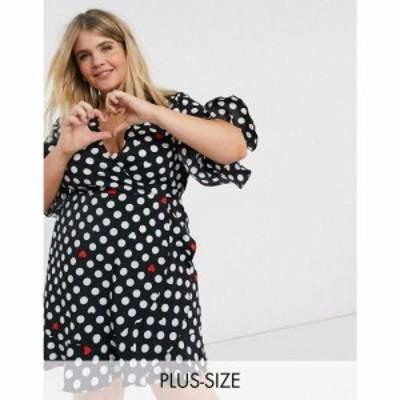 アックスパリス AX Paris Plus レディース ワンピース ラップドレス ミニ丈 ワンピース・ドレス valentines wrap mini dress in heart po