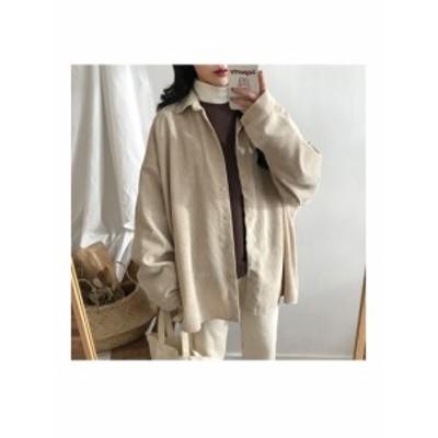 送料無料 コーデュロイシャツ ジャケット レディース 長袖 1028