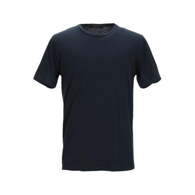 VNECK T シャツ ダークブルー S コットン 90% / カシミヤ 10% T シャツ