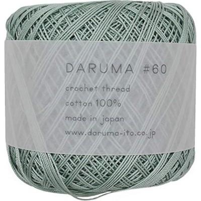 DARUMA レース糸 #60 col.3 グリーン 系 10g 約125m 3玉セット 01-2290(col.3 グリーン)