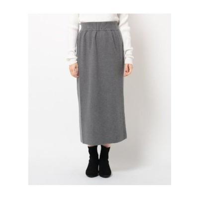 THE SHOP TK(Ladies)(ザ ショップ ティーケー(レディース))【セットアップ対応】片畦ナローニットスカート