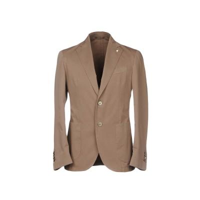 LUIGI BIANCHI ROUGH テーラードジャケット キャメル 46 コットン 100% テーラードジャケット