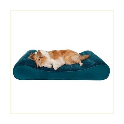 Furhaven Pet Dog Bed - Cooling Gel Foam Minky Plush and Velvet Ergonomic Luxe Lounger Cradle Mattress Contour Pet Bed with Removable Cover for Dogs an