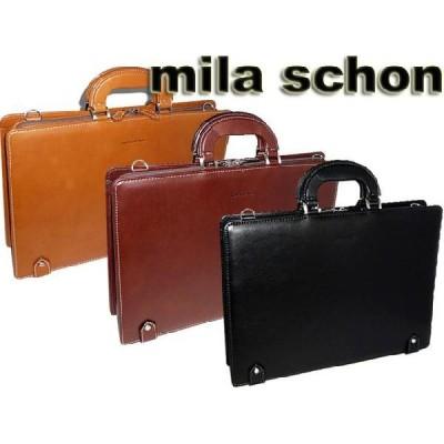 mila schon ミラ・ショ−ン メンズ トレノシリーズ ブリーフケース 黒 ブラック クロ・チョコ・キャメル 299502 ikt02
