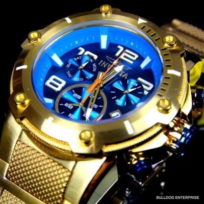 インビクタ 腕時計 Invicta Speedway XL Teal Blue Gold Plated クロノグラフ Swiss Parts Watch New インヴィクタ