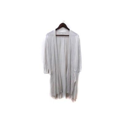 【中古】ルクールブラン le.coeur blanc トッパーカーディガン カットソー 長袖 38 グレー /YI レディース 【ベクトル 古着】