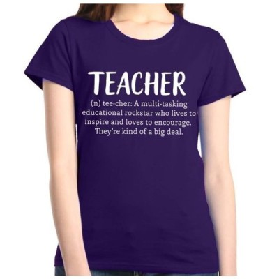 レディース 衣類 トップス Shop4Ever Women's Teacher Definition Graphic T-Shirt Tシャツ