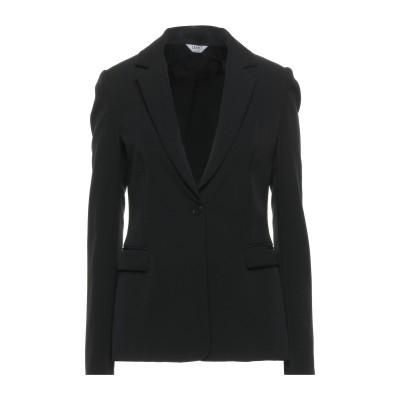 リュー ジョー LIU •JO テーラードジャケット ブラック 42 ポリエステル 88% / ポリウレタン 12% / レーヨン / ポリウレタン