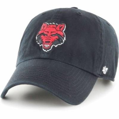 フォーティセブン 47 メンズ キャップ 帽子 Arkansas State Red Wolves Clean Up Adjustable Black Hat