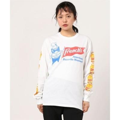tシャツ Tシャツ 【W】【it】【ut】【10】【GILDAN】FRENCH'S (MUSTARD) LS TEE