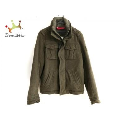 アバクロンビーアンドフィッチ ダウンジャケット サイズS メンズ - カーキ 長袖/冬   スペシャル特価 20210107