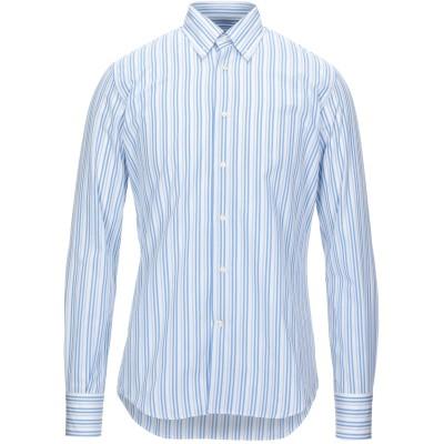 DEL SIENA シャツ アジュールブルー 39 コットン 100% シャツ