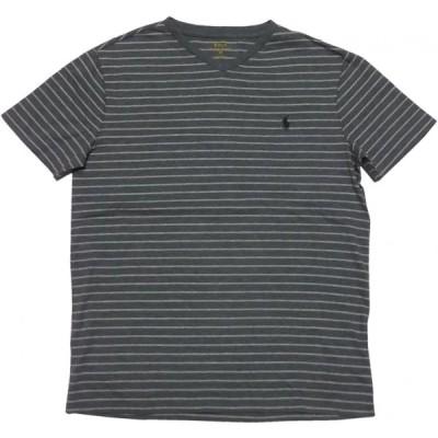 ポロ ラルフローレン 半袖 Vネック ボーダー Tシャツ グレー メンズ Polo Ralph Lauren 1115