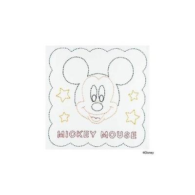 刺繍 キット オリムパス Disney 刺し子 花ふきん ミッキーマウス
