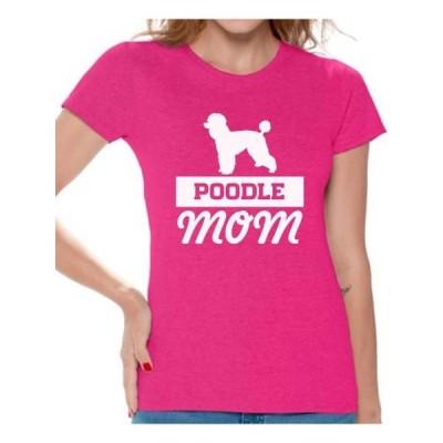 レディース 衣類 トップス Awkward Styles Women's Poodle Mom Dog Lover Graphic T-shirt Tops Tシャツ