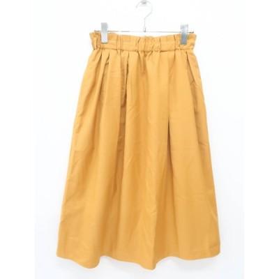 ef-de(エフデ)カラータックフレアスカート 黄 レディース Aランク 7