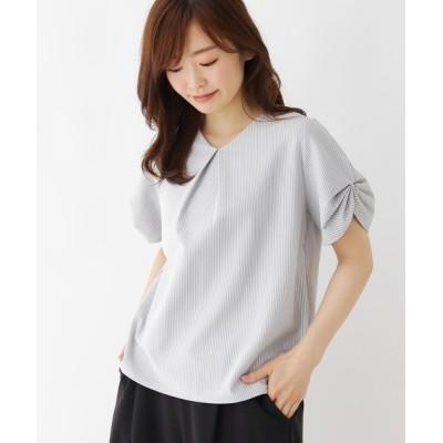 SHOO・LA・RUE / 【M-L】プラスタックデザインサッカープルオーバー WOMEN トップス > Tシャツ/カットソー