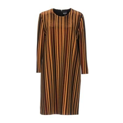 ジャストカヴァリ JUST CAVALLI ミニワンピース&ドレス ブラウン 44 レーヨン 89% / 金属繊維 11% ミニワンピース&ドレス