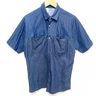 N.HOOLYWOOD エヌハリウッド 半袖 シャツ、ブラウス Shirt, Blouse ドルマンスリーブ バイトーン デニム シャツ 151-SH10 pieces 10025811