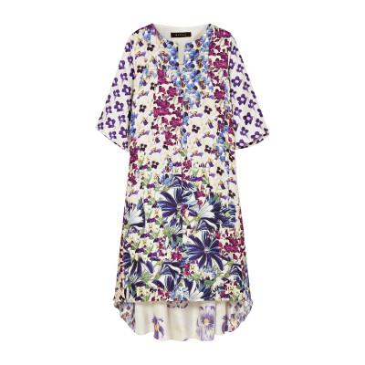 BIYAN 7分丈ワンピース・ドレス ホワイト M シルク 100% 7分丈ワンピース・ドレス