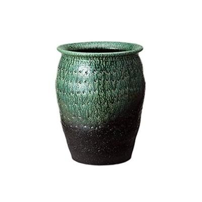 緑彩壷型傘立 535-02
