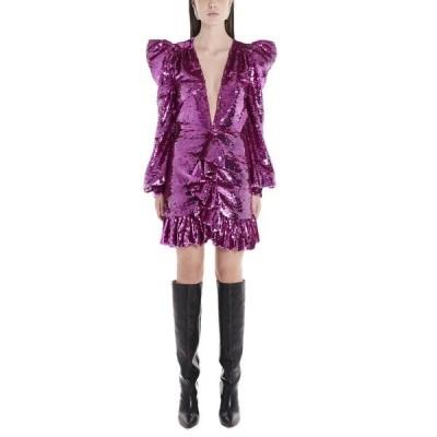 アーメン レディース ワンピース トップス Amen Sequinned Ruffle Trimmed Mini Dress -