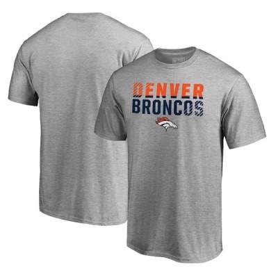 """ファナティックス メンズ Tシャツ """"Denver Broncos"""" NFL Pro Line by Fanatics Branded Iconic Collection Fade Out T-Shirt - Ash"""