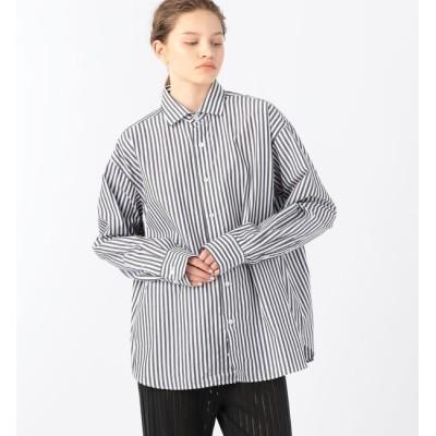 【トゥモローランド/TOMORROWLAND】 BASE RANGE コットンポプリン ストライプシャツ