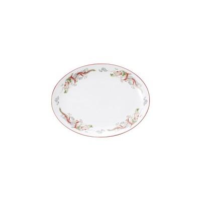 朱渕萬漢龍 14吋プラター 皿 プレート 中華食器 プラター(L) 業務用 楕円皿 日本製 磁器 約36.7cm 中華皿 大皿
