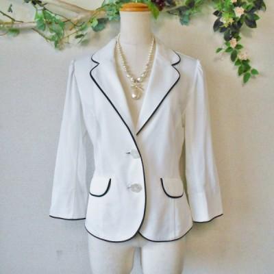 1回使用 美品 ギャラリー ビスコンティ GALLERY VISCONTI 春夏 向き レディース 用 7分袖 ジャケット 2