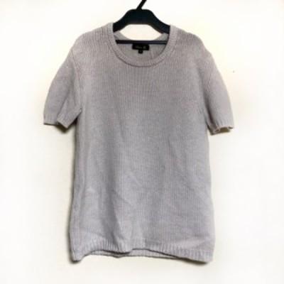 ドゥロワー Drawer 半袖セーター サイズ1 S レディース 美品 - ベージュ クルーネック/カシミヤ【中古】20210310