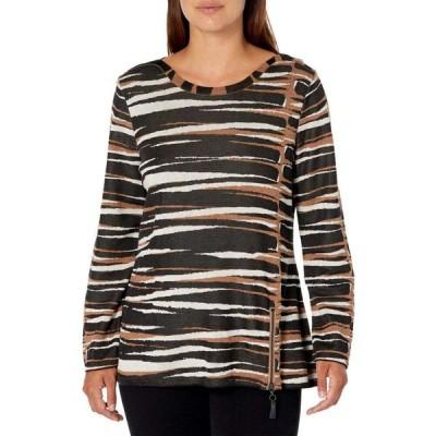 ニックゾー NIC+ZOE レディース ニット・セーター トップス Petite Mighty Zip Sweater Black Multi