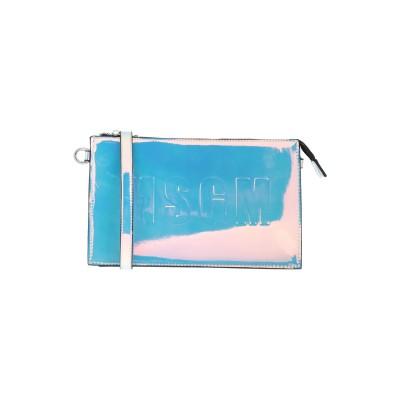 エムエスジーエム MSGM メッセンジャーバッグ シルバー ポリウレタン 100% メッセンジャーバッグ