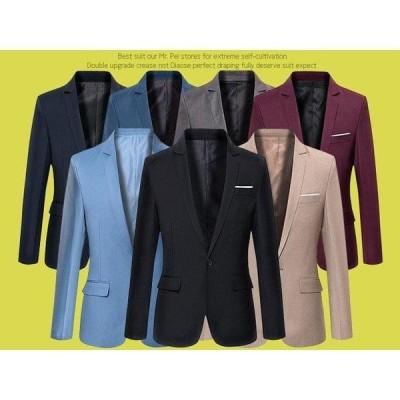 テーラードジャケット メンズ 春 アウター ショート丈 コート 全5色 カラージャケット 無地 フォーマル オフィス