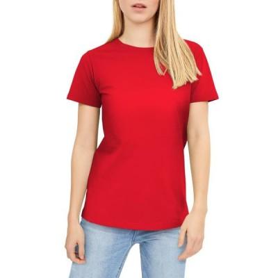レディース 衣類 トップス Ma Croix Womens Layering Short Sleeve Crew Tee Round Neck T-Shirts Pre-shrunk Tシャツ