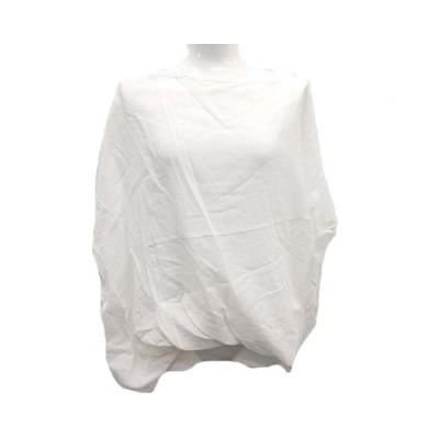 【中古】未使用品 クラネ CLANE カットソー 五分袖 バルーン裾 DOUBLE LAYER TOPS 1 白 ホワイト /MF12 レディース 【ベクトル 古着】