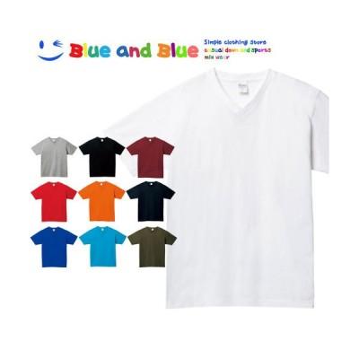 BLUE AND BLUE ブルーアンドブルー ユニセックス(メンズ・レディース) Vネック Tシャツ 半袖 トップス【男性 女性 大きいサイズ ゆったり おしゃれ かわいい】