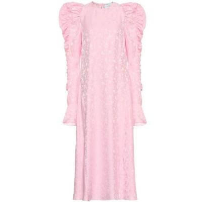 レ レヴェリズ Les Reveries レディース ワンピース ワンピース・ドレス Floral-jacquard silk dress Rose Pink