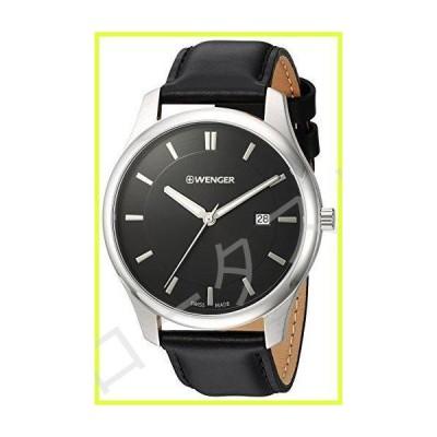 Wenger メンズ腕時計 シティ・クラシックシリーズ アナログディスプレイ スイス製クオーツ Black Dial, Black