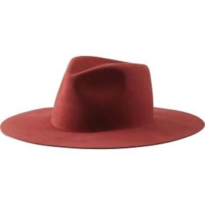 ブリクストン メンズ 帽子 アクセサリー Maya Fedora Dark Brick