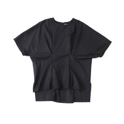 AULI 【低身長向けサイズ】ウエストタックプルオーバー(ブラック)