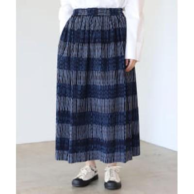 オカモト商店 × fennica / 別注 久留米絣 スカート