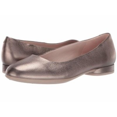 エコー レディース サンダル シューズ Anine Ballerina Stone Metallic Cow Leather