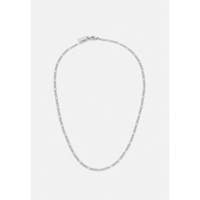 ナイアヤラ メンズ ネックレス・チョーカー アクセサリー FIGARO CHAIN NECKLACE - Necklace - silver-coloured silver-coloured