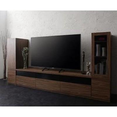 キャビネットが選べるテレビボードシリーズ add9 アドナイン 3点セット(テレビボード+キャビネット×2) 木扉&ガラス扉 幅180