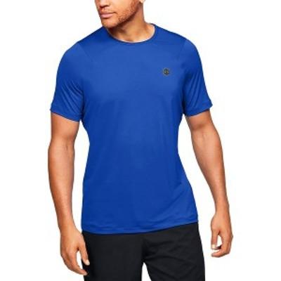 アンダーアーマー メンズ シャツ トップス HG Rush Fitted SS Shirt Versa Blue/Black
