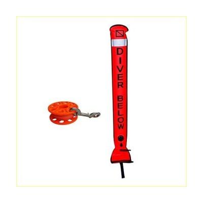LEIPUPA 59ft Diving Finger Spool W/Brass Clip Line Holder Reel & Surface Marker Buoy【並行輸入品】