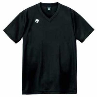 デサント 男女兼用 バレーボール V首半袖ゲームシャツ(BLK・XO) DESCENTE DS-DSS4321-BLK-XO 【返品種別A】